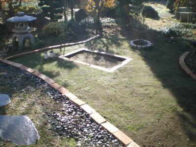 我が家の庭に芝を植えた後